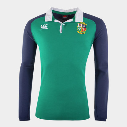 Canterbury British and Irish Lions Long Sleeve Rugby Shirt Mens