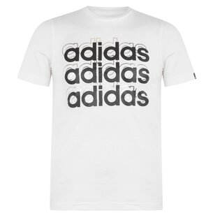 adidas Foil Repeat T Shirt Junior Boys