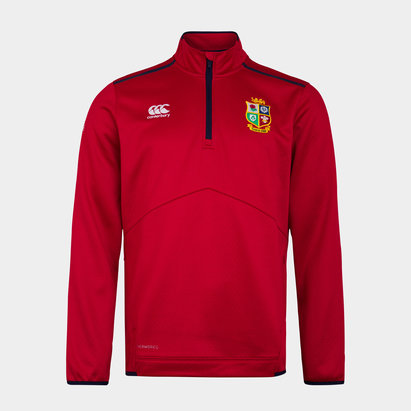 Canterbury British and Irish Lions Quarter Zip Fleece Mens