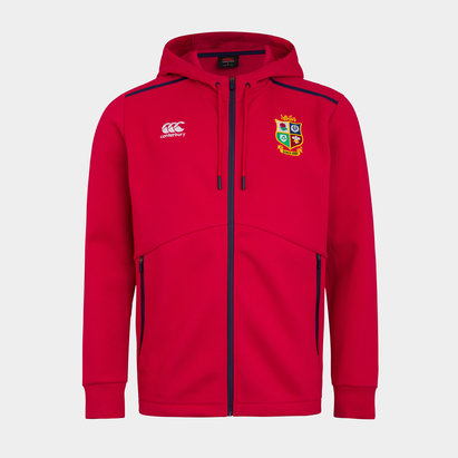Canterbury British and Irish Lions Full Zip Hoodie Mens