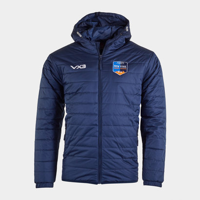 VX-3 New York Rugby League Full Zip Quilted Jacket