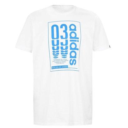 adidas Box Logo Mens T Shirt