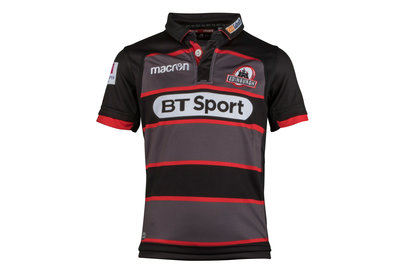 Macron Edinburgh 2017/18 Home Kids S/S Replica Rugby Shirt
