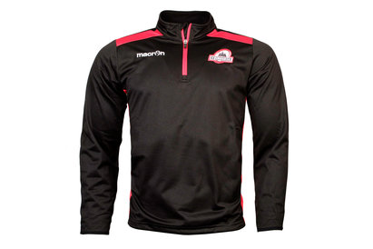 Macron Edinburgh 2017/18 Players 1/4 Zip Rugby Training Sweatshirt