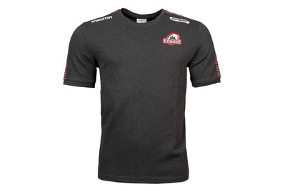 Macron Edinburgh 2017/18 Players Travel Rugby T-Shirt