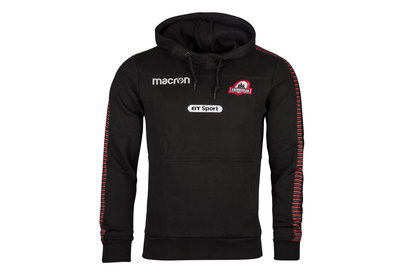 Macron Edinburgh 2017/18 Players Heavy Cotton Hooded Rugby Sweat