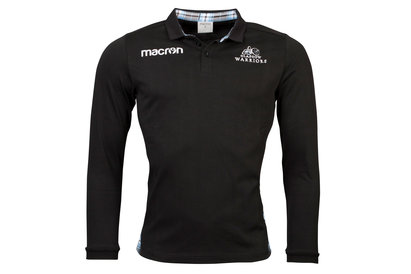 Macron Glasgow Warriors 2017/18 Home Cotton L/S Classic Rugby Shirt