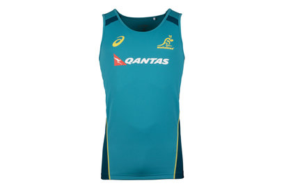 Asics Australia Wallabies 2017/18 Players Rugby Training Singlet