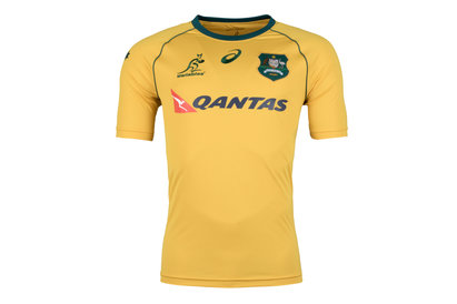 Asics Australia Wallabies 2017/18 S/S Replica Supporters Rugby Shirt