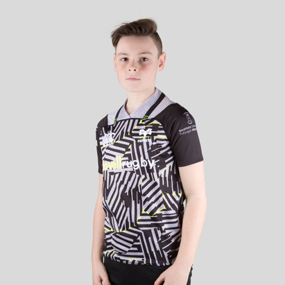 Canterbury Ospreys 2017/18 Kids 3rd S/S Pro Rugby Shirt