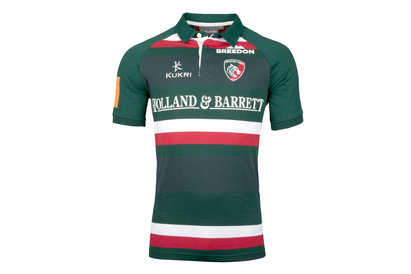 Kukri Leicester Tigers 2017/18 Home S/S Classic Rugby Shirt