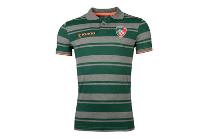 Kukri Leicester Tigers 2017/18 Stripe Rugby Polo Shirt