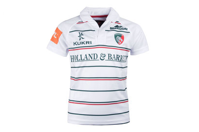 Kukri Leicester Tigers 2017/18 Kids Alternate S/S Replica Rugby Shirt