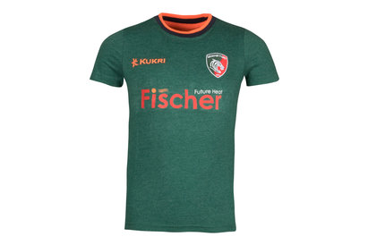 Kukri Leicester Tigers 2017/18 Kids Logo Rugby T-Shirt