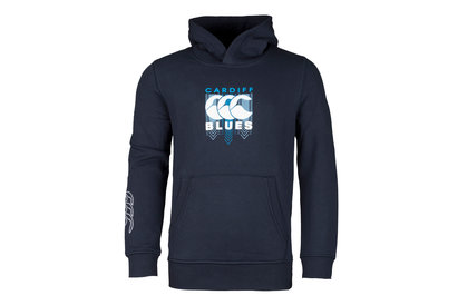 Canterbury Cardiff Blues 2017/18 Kids Off Field Hooded Rugby Sweat