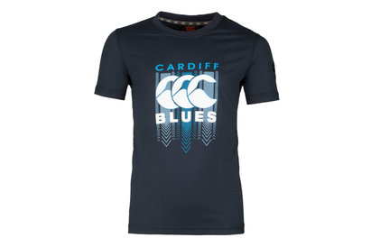 Canterbury Cardiff Blues 2017/18 Kids Graphic Rugby T-Shirt