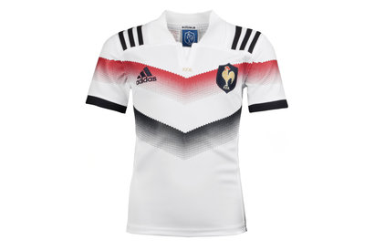 adidas France 2017/18 Alternate Kids S/S Replica Rugby Shirt