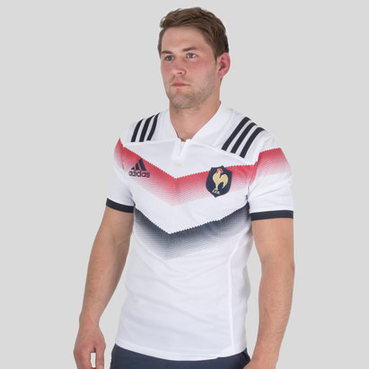 adidas France 2017/18 Alternate S/S Replica Rugby Shirt