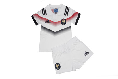 adidas France 2017/18 Alternate Mini Kids Replica Rugby Kit