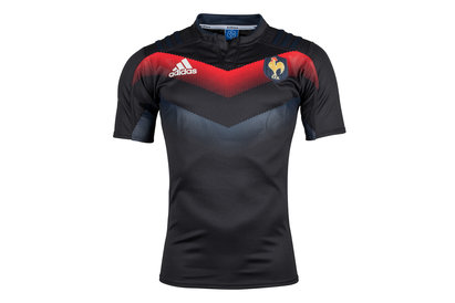 adidas France 2017/18 Players S/S Rugby Training Shirt