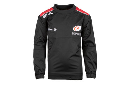 BLK Saracens 2017/18 Kids Wet Weather Pullover Rugby Jacket