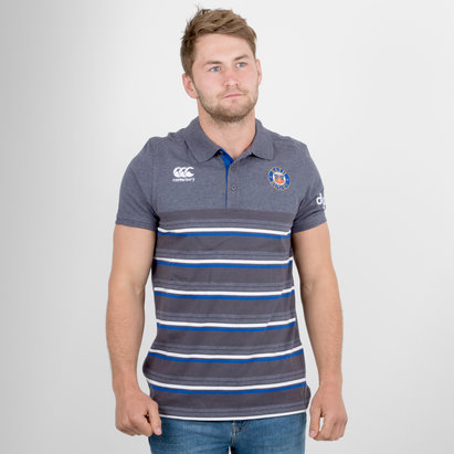 Canterbury Bath 2017/18 Cotton Stripe Rugby Polo Shirt