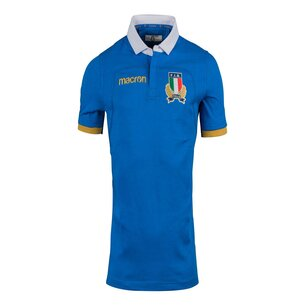 Macron Italy 2017/18 Home S/S Cotton Replica Rugby Shirt
