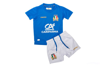 Macron Italy 2017/18 Home Mini Kids Replica Rugby Kit