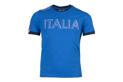 Macron Italy 2017/18 Kids Supporters Cotton Rugby T-Shirt