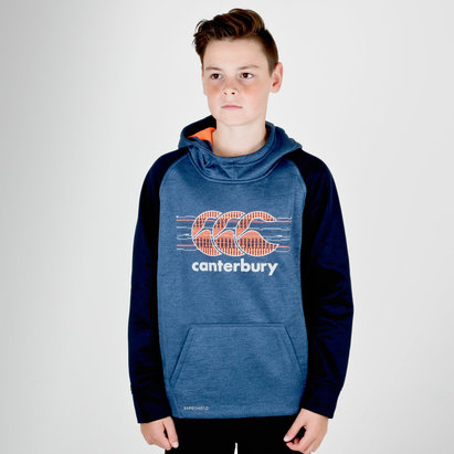 Canterbury Vaposhield Kids Fleece Hooded Sweat