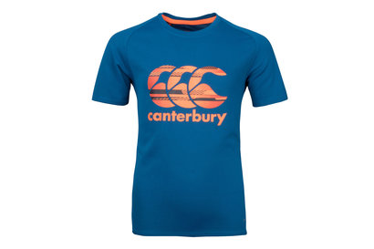Canterbury Vapodri Poly Logo Kids Training T-Shirt