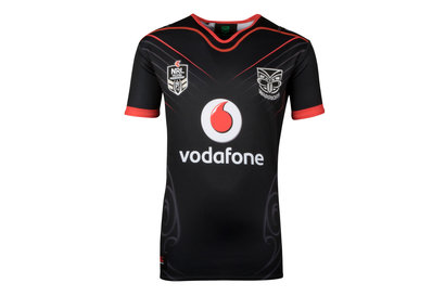 Canterbury New Zealand Warriors NRL 2018 Home Kids S/S Rugby Shirt