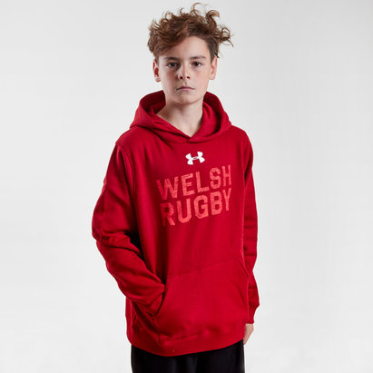 Under Armour Wales WRU 2018/19 Kids Graphic Hooded Rugby Sweat