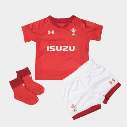 Under Armour Wales WRU 2018/19 Infant Home Replica Rugby Kit