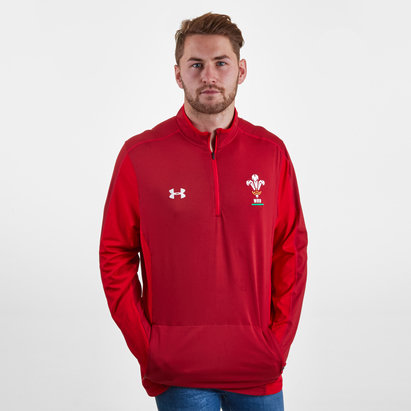 Under Armour Wales WRU 2018/19 Players 1/4 Zip Rugby Training Top