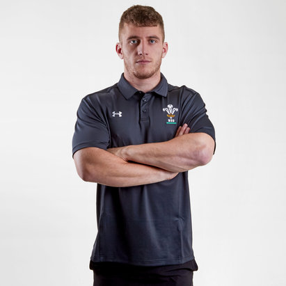 Under Armour Wales WRU 2018/19 Players Rugby Polo Shirt