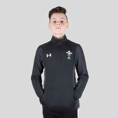 Under Armour Wales WRU 2017/19 Kids 1/4 Zip Rugby Training Top