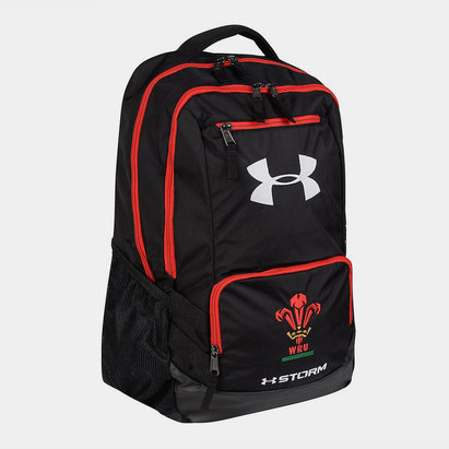 Under Armour Wales WRU 2018/19 Players Hustle Rugby Backpack
