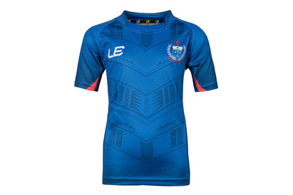 LE Sportswear Samoa 2017 Kids Home S/S Replica Rugby Shirt