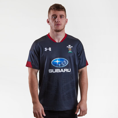 Under Armour Wales WRU 2018/19 Alternate S/S Replica Rugby Shirt