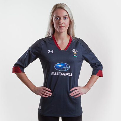 Under Armour Wales WRU 2017/18 Ladies Alternate S/S Replica Rugby Shirt