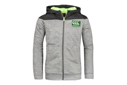 Canterbury Vaposhield Fleece Kids Full Zip Hooded Rugby Sweat