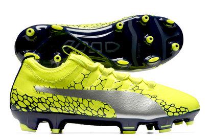 Puma evoPOWER Vigor 3 Graphic FG Kids Football Boots
