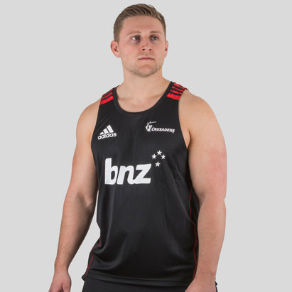 adidas Crusaders 2018 Players Super Rugby Training Singlet