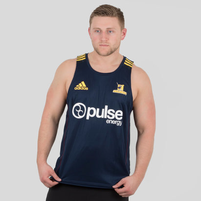 adidas Highlanders 2018 Players Super Rugby Training Singlet