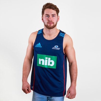 adidas Blues 2018 Players Super Rugby Training Singlet