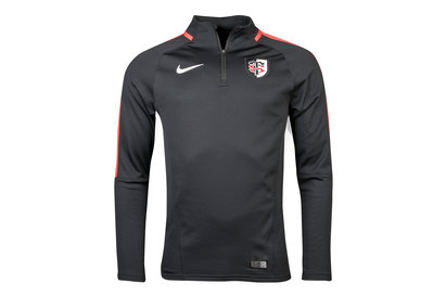 Nike Toulouse 2017/18 Players Squad Drill Rugby Training Top