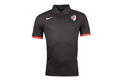 Nike Toulouse 2017/18 Players Pique Rugby Polo Shirt