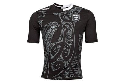 Macron New Zealand Kiwis 2017/18 Players Travel Rugby T-Shirt