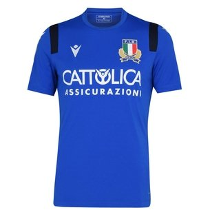 Macron Italy 20/21 Players Training T-Shirt Mens